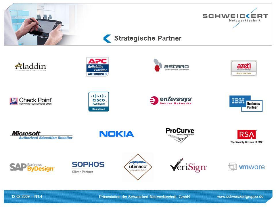 www.schweickertgruppe.de Präsentation der Schweickert Netzwerktechnik GmbH 12.02.2009 – N1.4 Strategische Partner