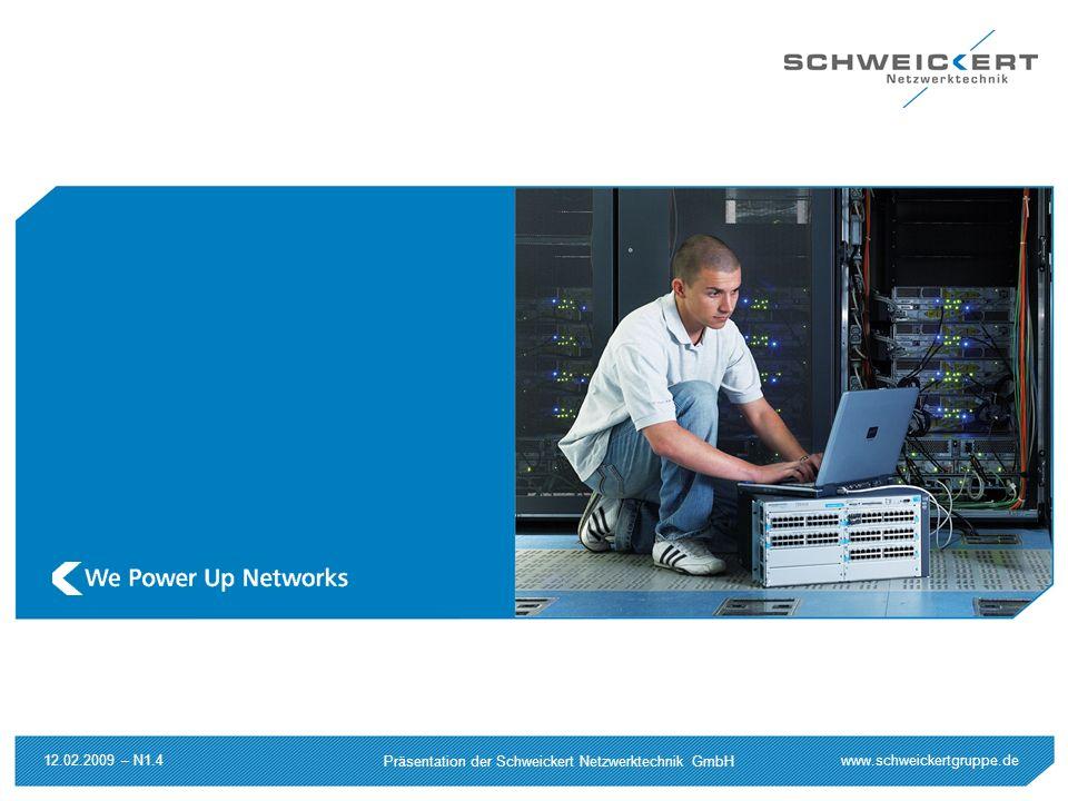 www.schweickertgruppe.de Präsentation der Schweickert Netzwerktechnik GmbH 12.02.2009 – N1.4