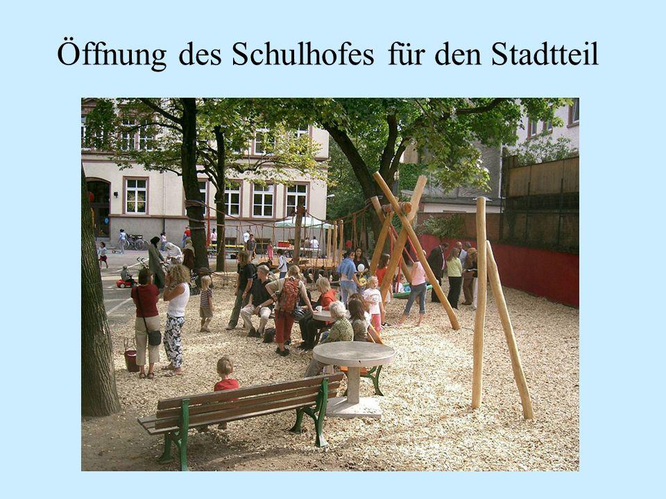 Öffnung des Schulhofes für den Stadtteil