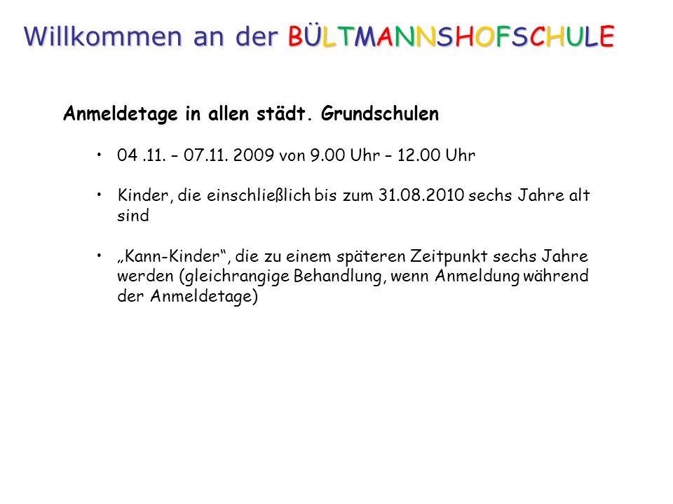 Anmeldetage in allen städt.Grundschulen 04.11. – 07.11.