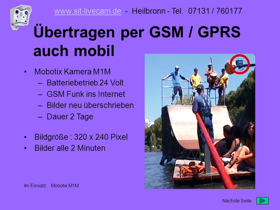 Mobotix M10 Teleobjektiv manuell justiert www.sit-livecam.dewww.sit-livecam.de - Heilbronn - Tel.