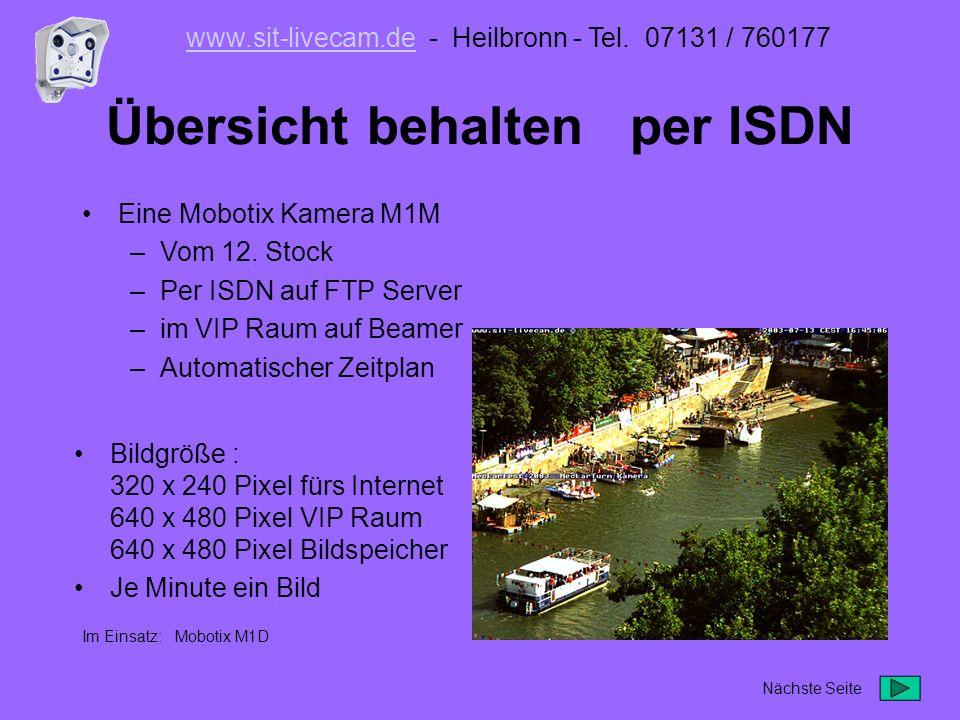 Zeitraffer Videoclip erstellt aus einzelnen Kamerabildern Im Einsatz: Mobotix M1D www.sit-livecam.dewww.sit-livecam.de - Heilbronn - Tel.