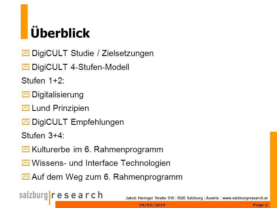 Page 1319/05/2014 Jakob Haringer Straße 5/III | 5020 Salzburg | Austria | www.salzburgresearch.at Kontaktinformation Dr.