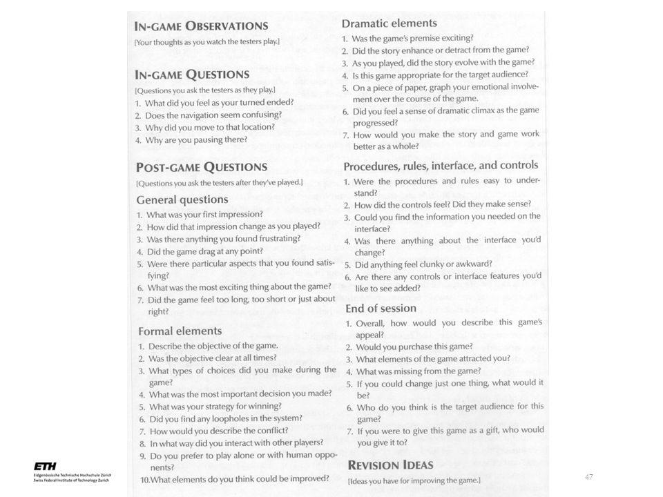 einführung in das serious game design, 02.05.2005 47