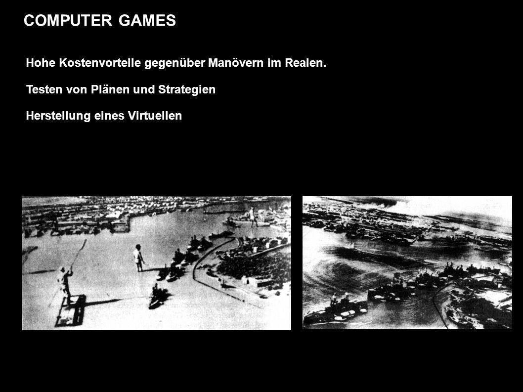 COMPUTER GAMES Hohe Kostenvorteile gegenüber Manövern im Realen.