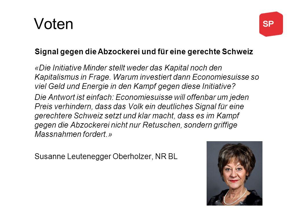 Voten «Die Initiative Minder stellt weder das Kapital noch den Kapitalismus in Frage.