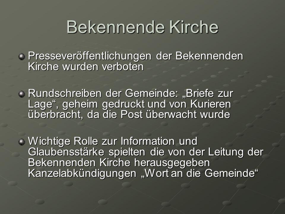 Freusburg Brennpunkt des Kirchenkampfes Schilderungen nach Otto Strunk Bsp aus Freusburg und Niederfischbach: Wir sehen das Volk von einer tödlichen Gefahr bedroht.