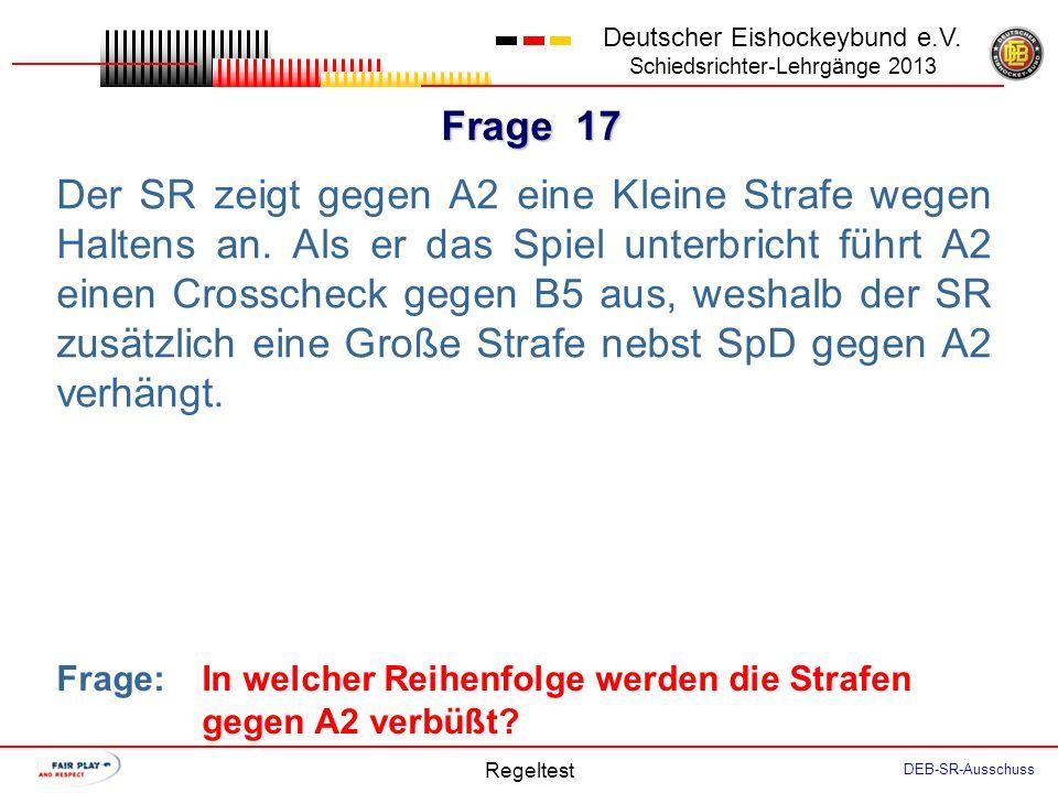 Frage 16 Deutscher Eishockeybund e.V.