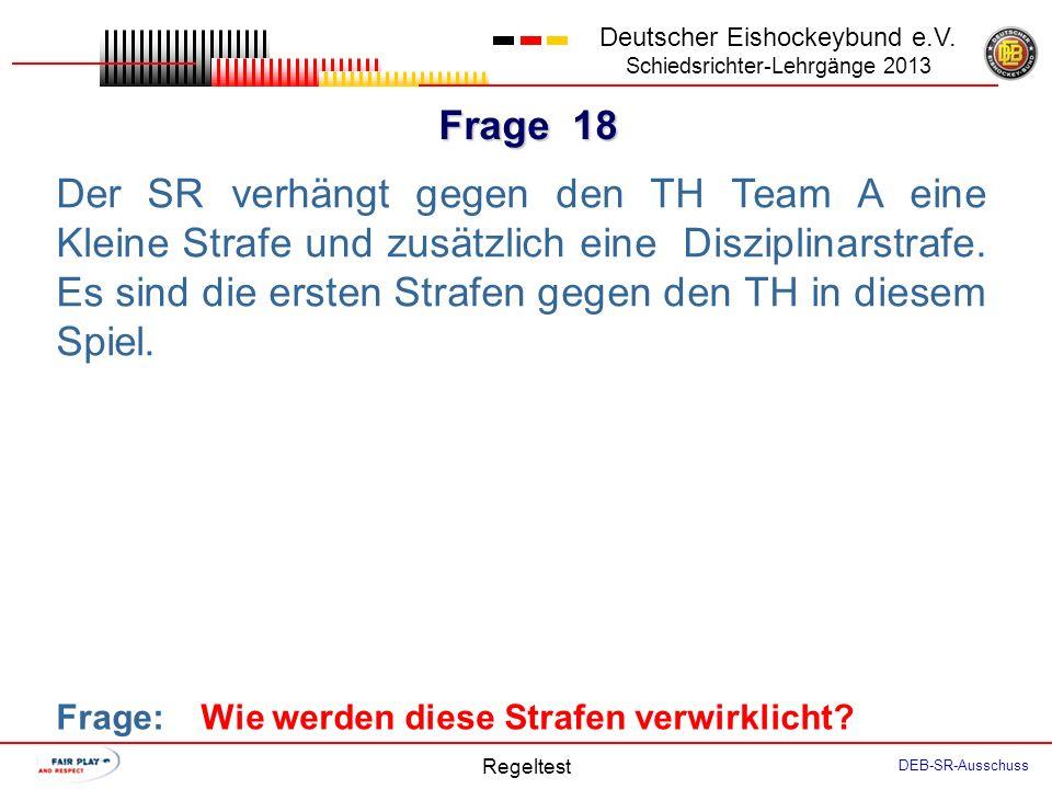Frage 17 Deutscher Eishockeybund e.V.