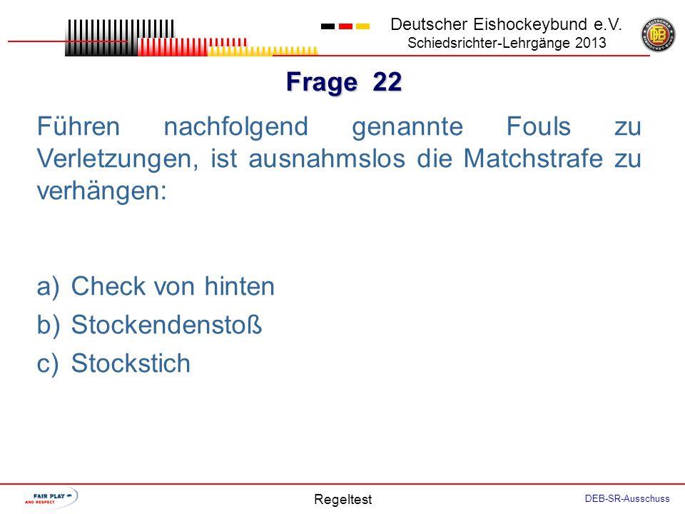 Frage 21 Deutscher Eishockeybund e.V.
