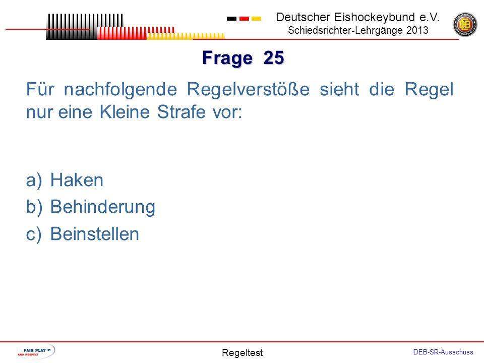 Frage 24 Deutscher Eishockeybund e.V.