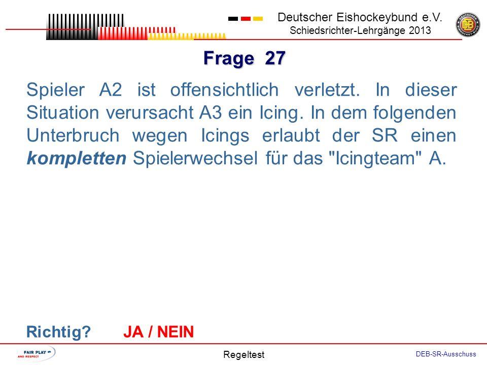 Frage 26 Deutscher Eishockeybund e.V.