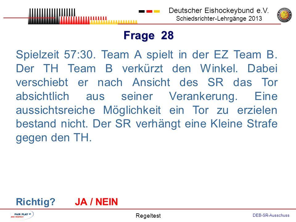 Frage 27 Deutscher Eishockeybund e.V.