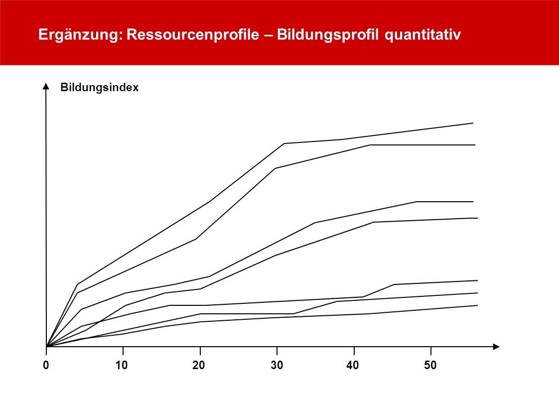 Ergänzung: Ressourcenprofile – Bildungsprofil quantitativ Bildungsindex 0 1020 3040 50