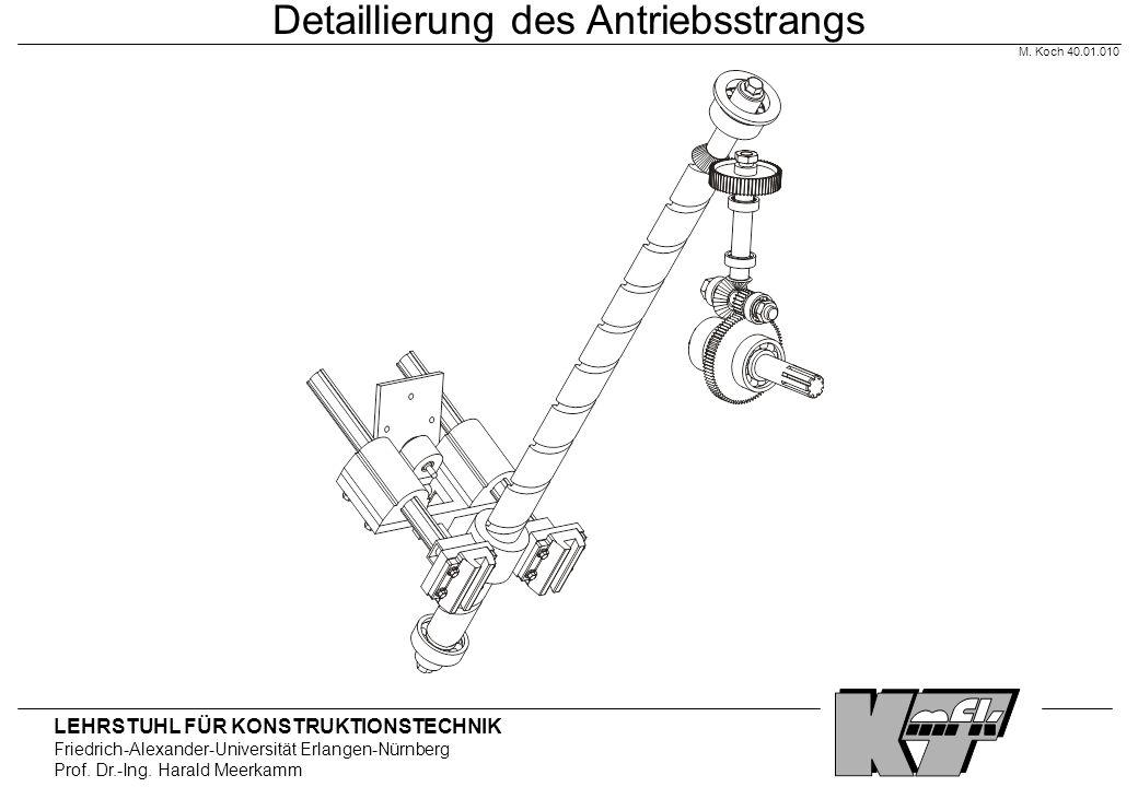 LEHRSTUHL FÜR KONSTRUKTIONSTECHNIK Friedrich-Alexander-Universität Erlangen-Nürnberg Prof. Dr.-Ing. Harald Meerkamm Detaillierung des Antriebsstrangs