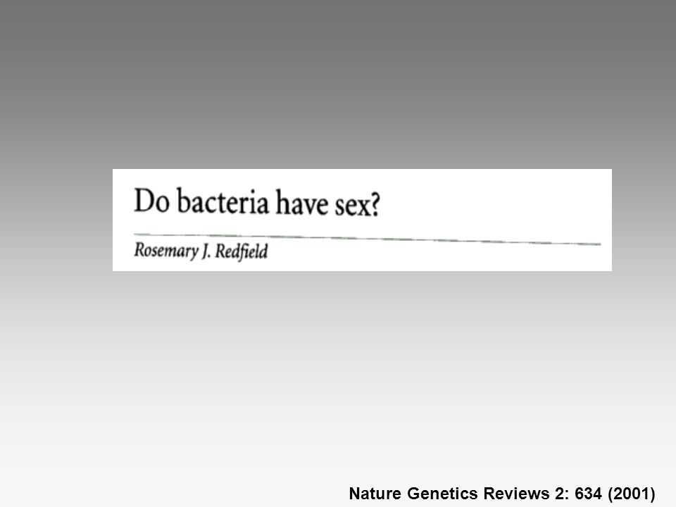 Nature Genetics Reviews 2: 634 (2001)