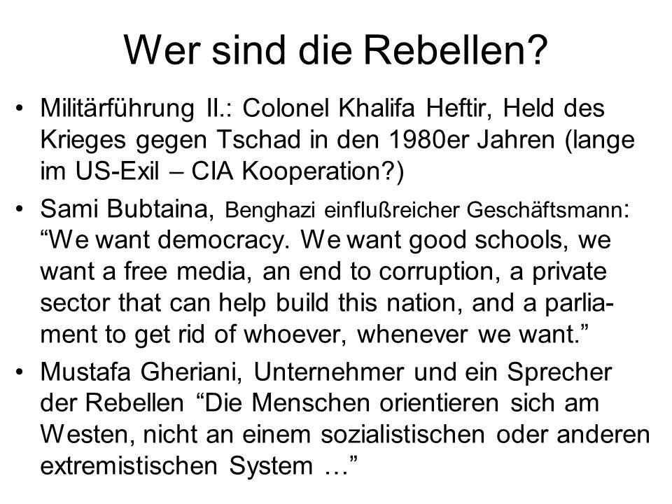 Wer sind die Rebellen? Militärführung II.: Colonel Khalifa Heftir, Held des Krieges gegen Tschad in den 1980er Jahren (lange im US-Exil – CIA Kooperat