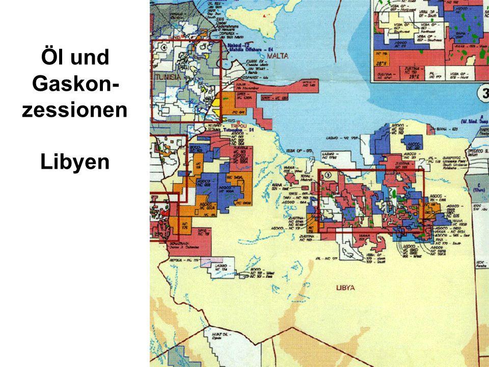 Öl und Gaskon- zessionen Libyen