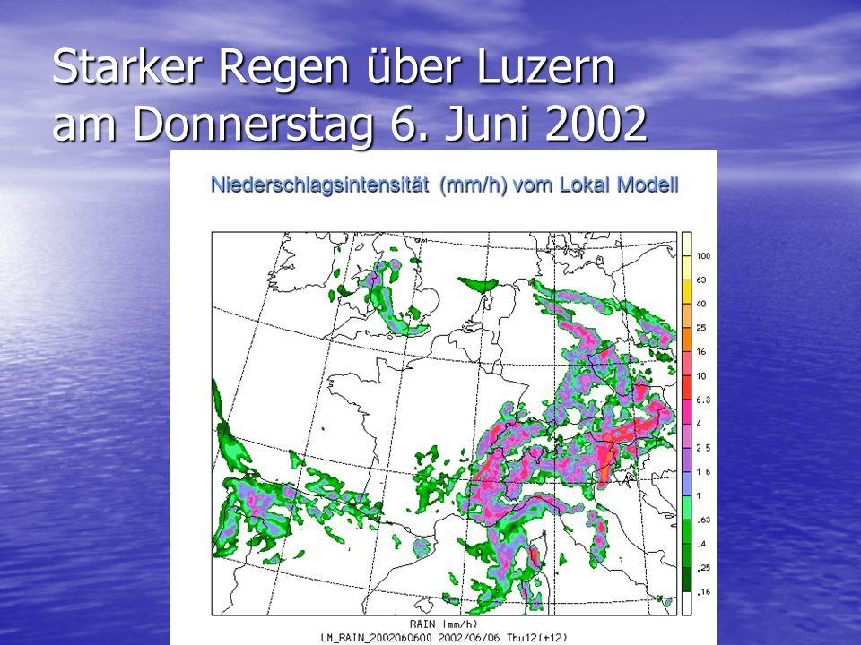Woran man sich erinnern soll Wetterprognosen werden aus dem jetzigen Zustand der Atmosphäre mit Computermodellen berechnet.