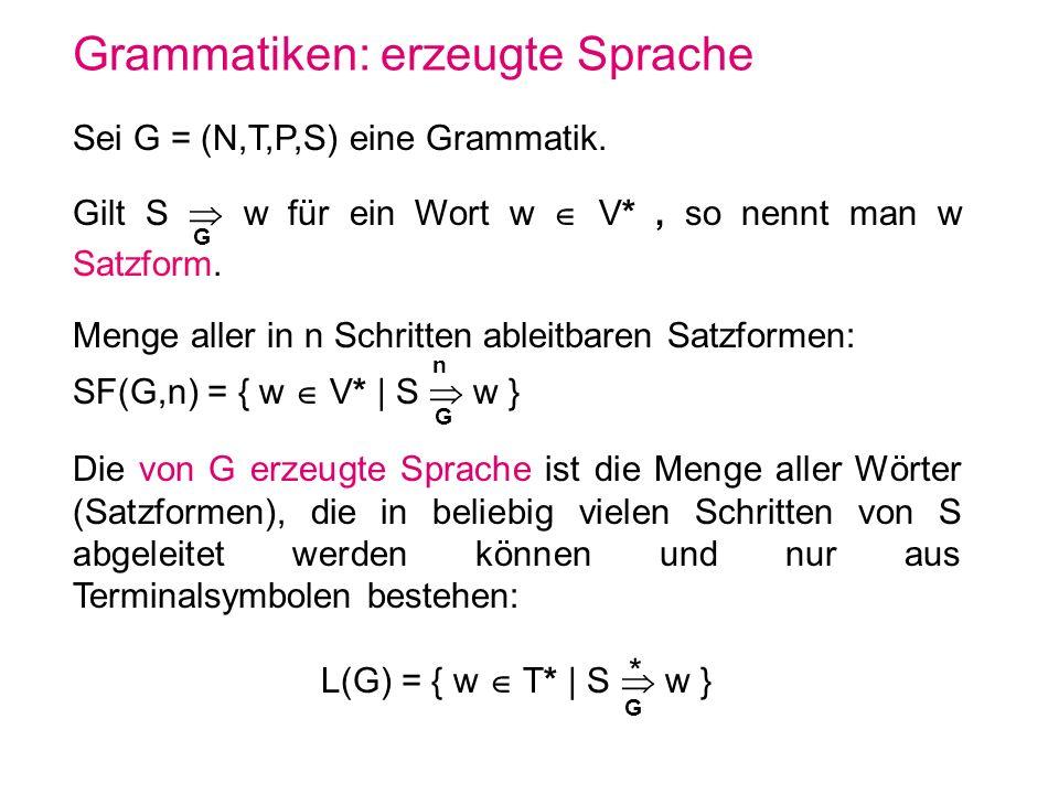 Typ-i-Grammatiken Sei G=(N,T,P,S) eine Grammatik.