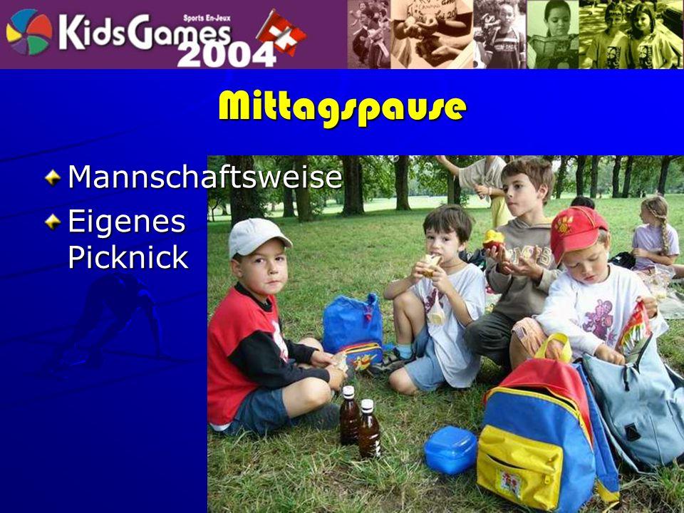 Mittagspause Mannschaftsweise Eigenes Picknick