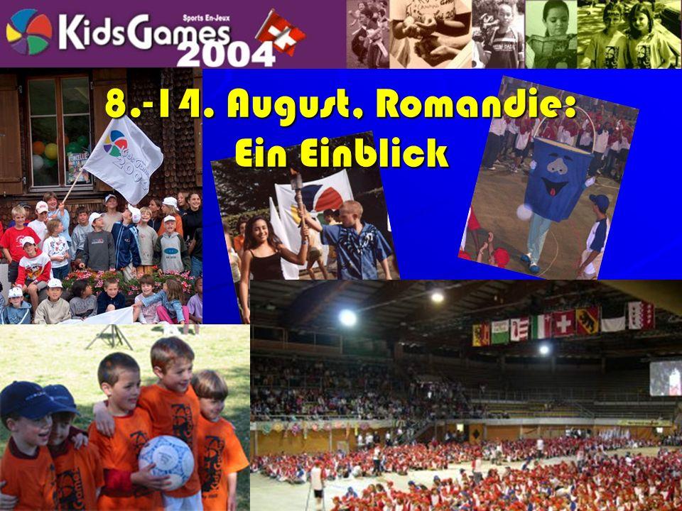 Programm in den Regionen Durch die Woche regional: –Sonntag: Eröffnungsanlass –Montag – Freitag 9:00-ca.