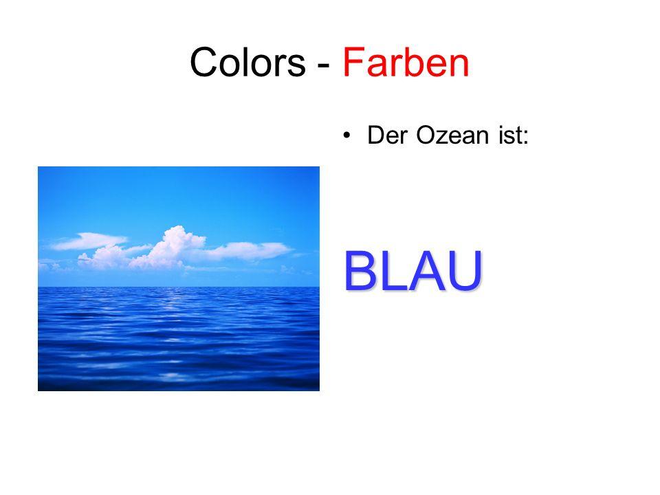Colors - Farben Der Ozean ist:BLAU