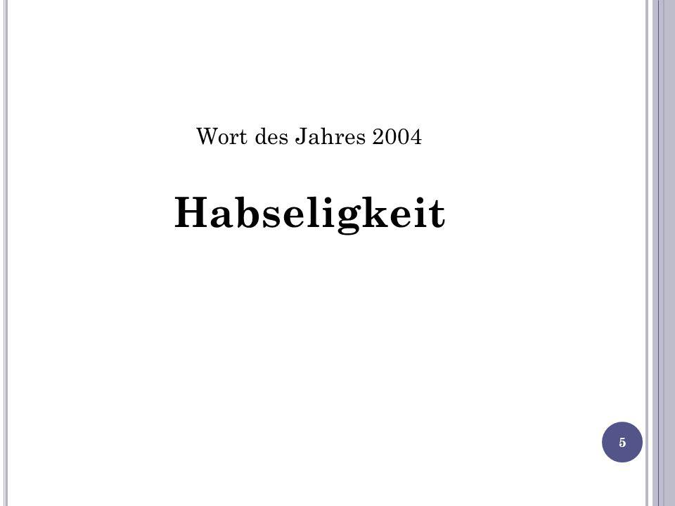 Wort des Jahres 2004 Habseligkeit 5