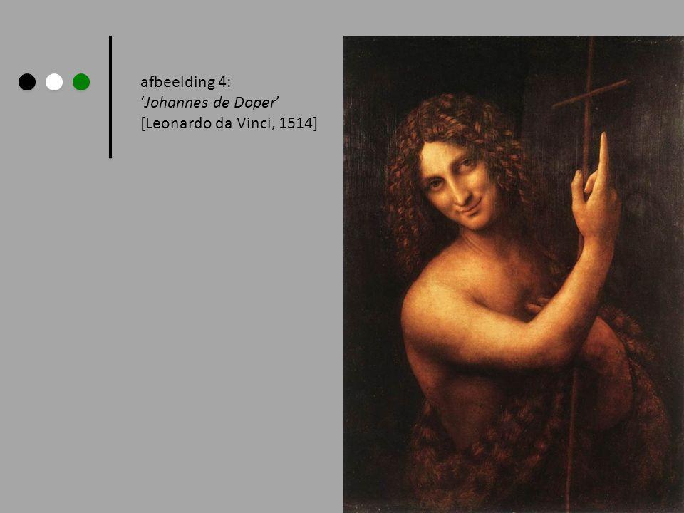 afbeelding 4: Johannes de Doper [Leonardo da Vinci, 1514]