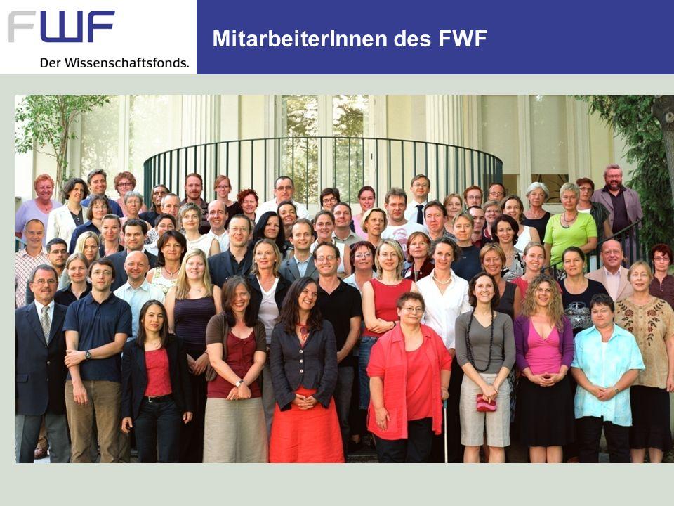 MitarbeiterInnen des FWF