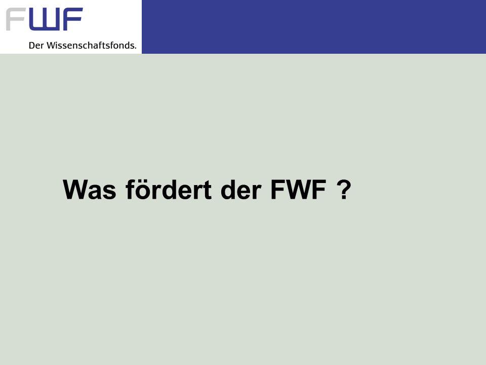 Was fördert der FWF ?