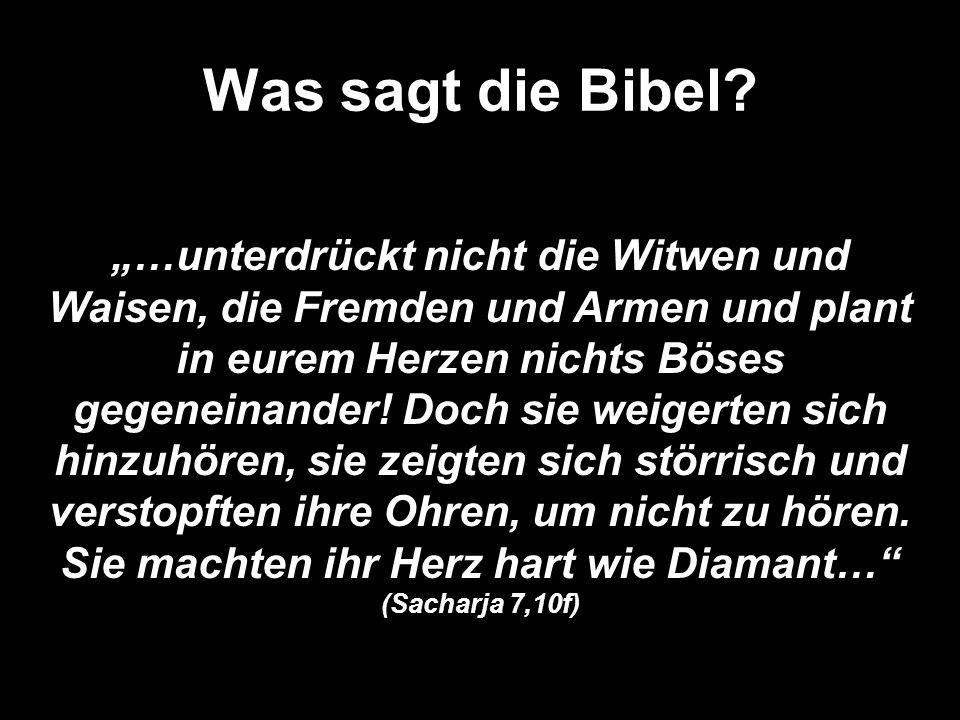 Was sagt die Bibel.