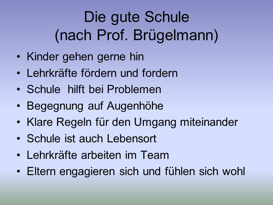 Die gute Schule (nach Prof.