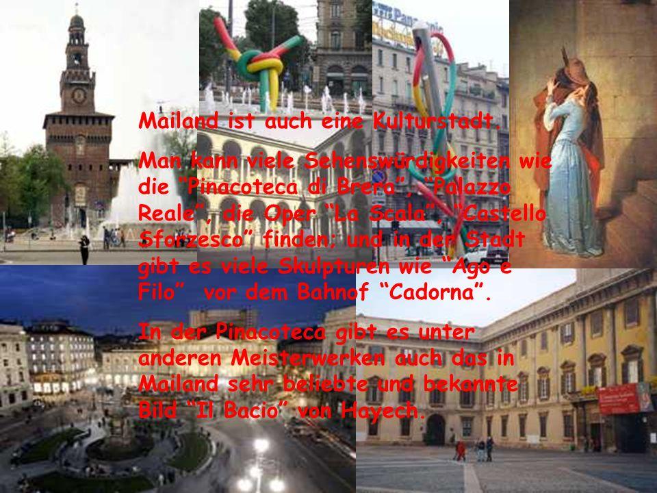 In Mailand gibt es zwei Messestädte; die ältere liegt in S. Siro… ….und die neuere, sehr moderne, ist in Rho. An diese Messen kommen viele Kaufleute a
