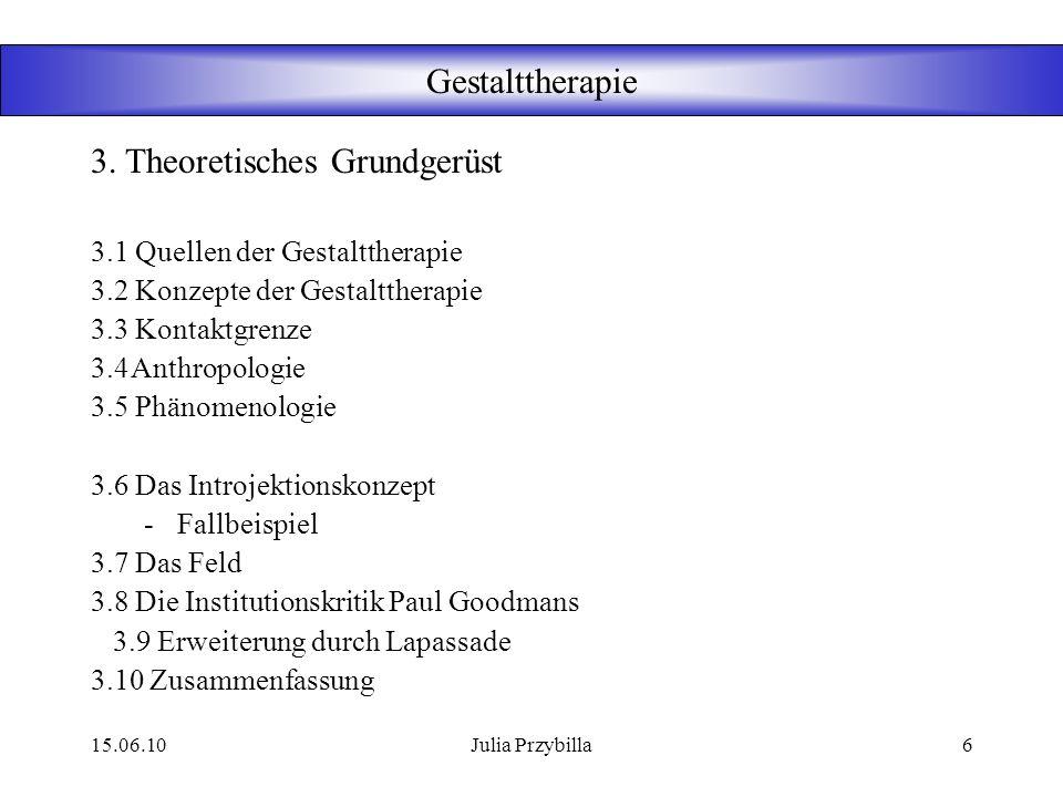 15.06.10Julia Przybilla5 Gestalttherapie Ab 1980 u.a. Petzhold: Ausformulierung der von Perls erwähnten Begriffe Hintergrund und Feld –Figur / Grund K