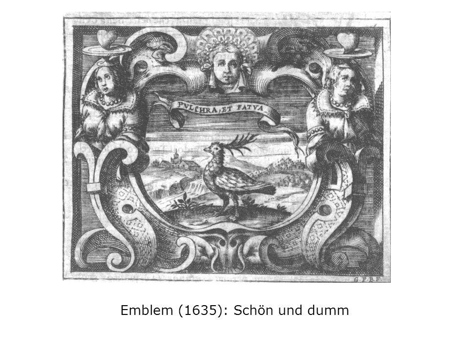 Emblem (1635): Schön und dumm