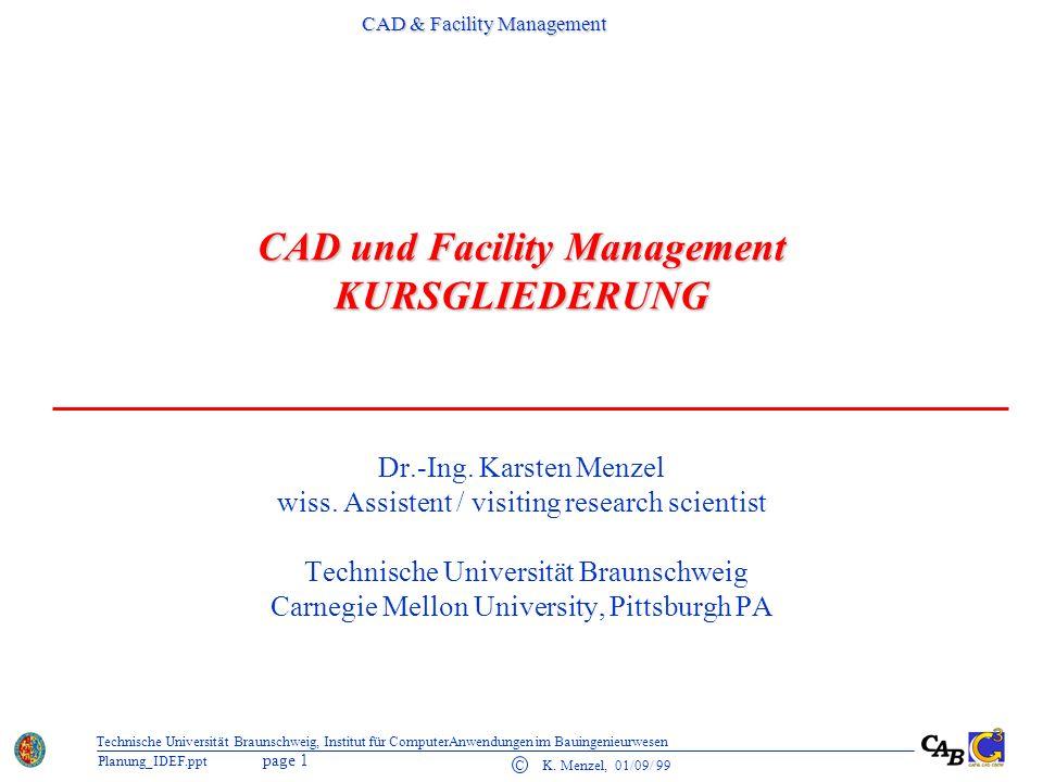 CAD & Facility Management page 2 C K.