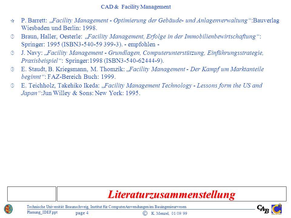 CAD & Facility Management page 15 C K.
