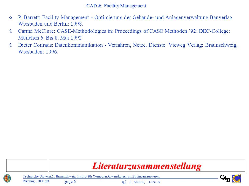 CAD & Facility Management page 7 C K.