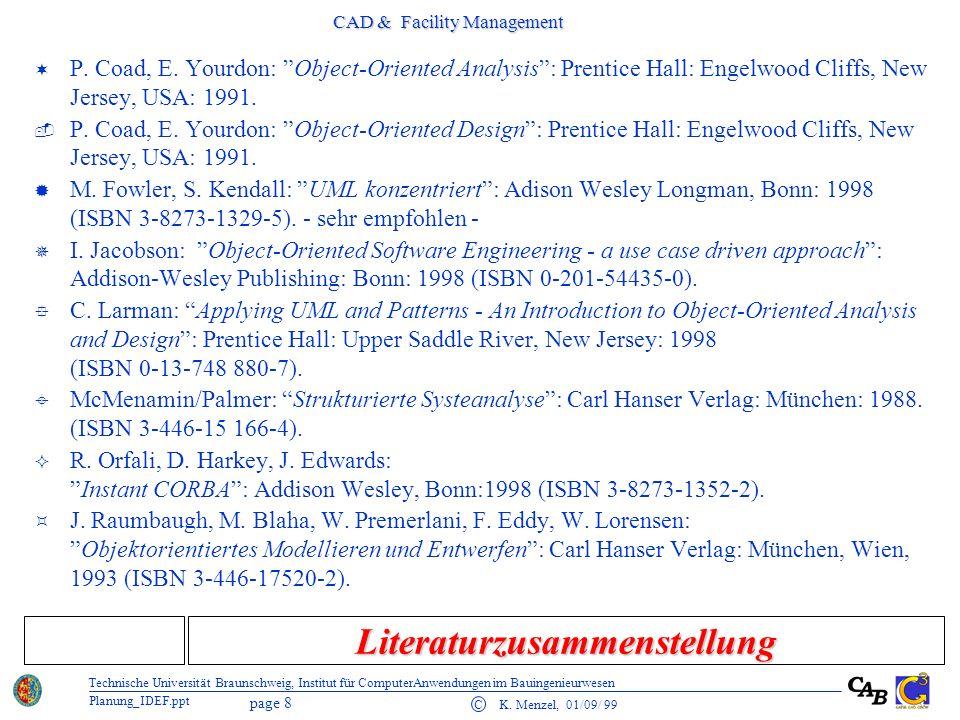 CAD & Facility Management page 9 C K.