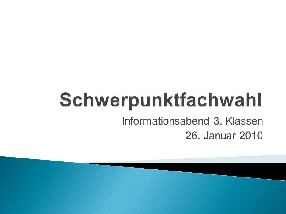 Informationsabend 3. Klassen 26. Januar 2010