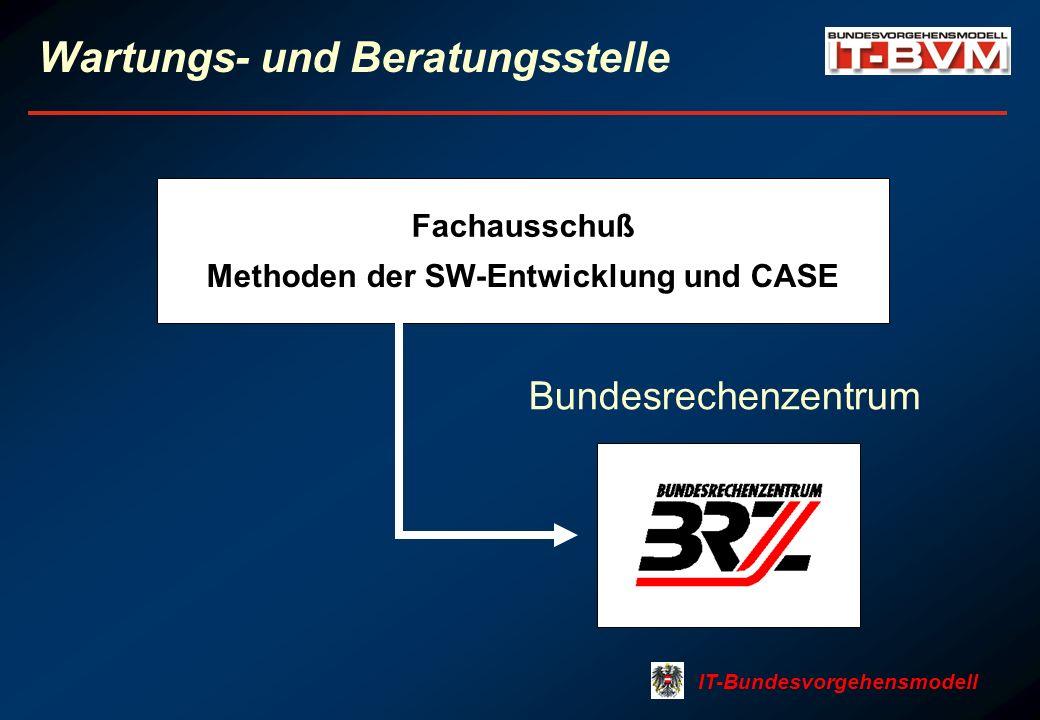 IT-Bundesvorgehensmodell Wartungs- und Beratungsstelle Fachausschuß Methoden der SW-Entwicklung und CASE Bundesrechenzentrum