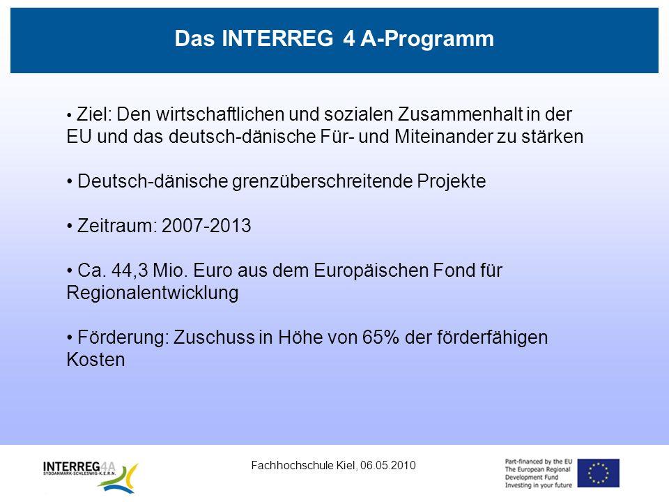 Fachhochschule Kiel, 06.05.2010 Die Programmregion Einwohner: Ca.