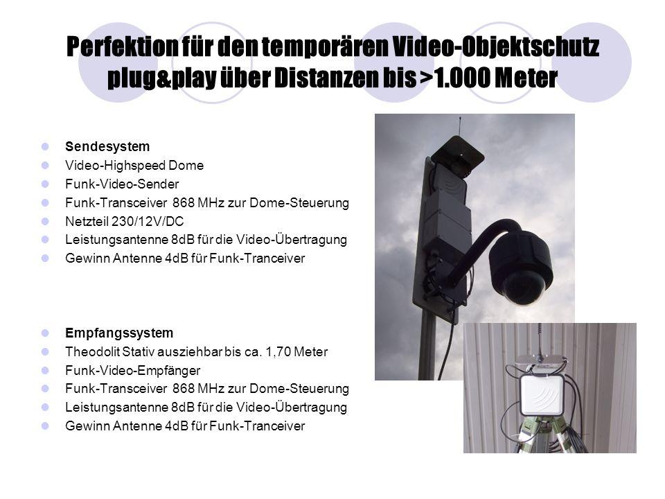 Mobiler Objektschutz gegen Diebstahl Sicherheit mit Funk-Transponder.
