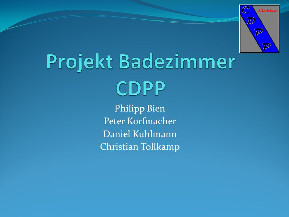 Philipp Bien Peter Korfmacher Daniel Kuhlmann Christian Tollkamp