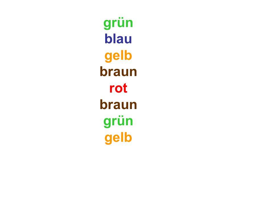 grün blau gelb braun rot braun grün gelb rot
