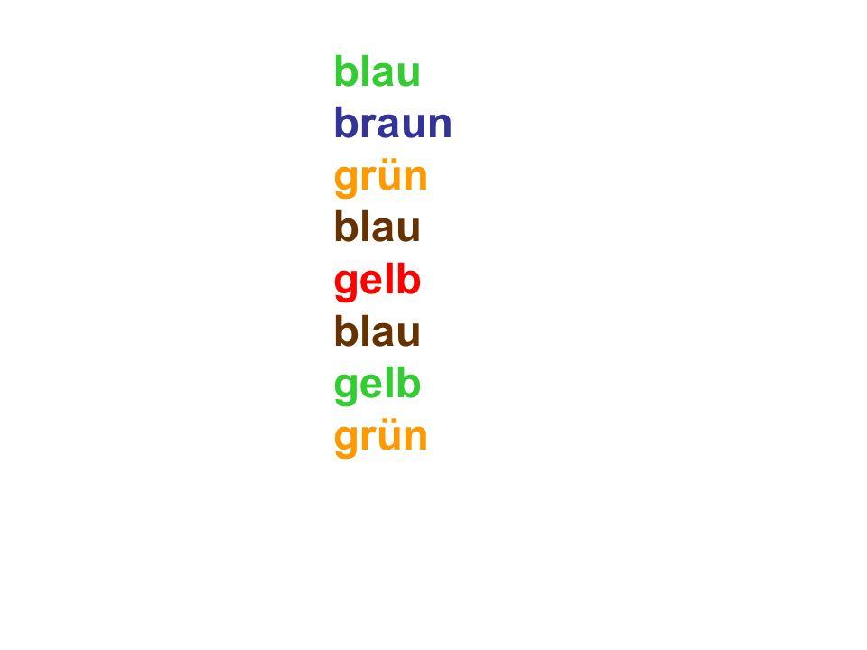 blau braun grün blau gelb blau gelb grün rot