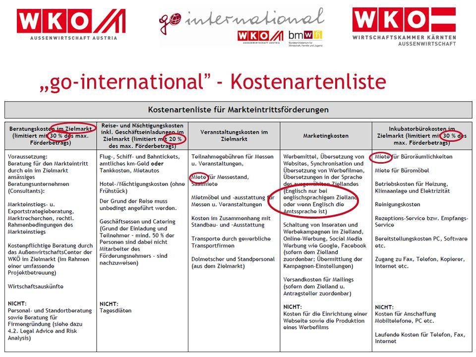 9 Details auf www.go-international.at Auflistung aller Förderungen Factsheets Ansprechpersonen Antragsformulare Richtlinien