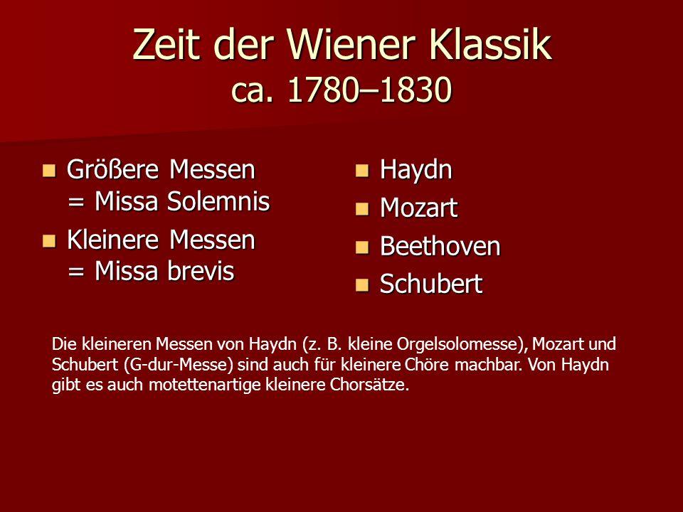 Zeit der Wiener Klassik ca.