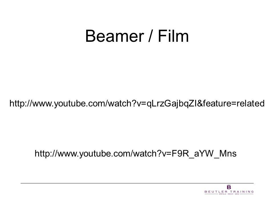 Beamer / Film http://www.youtube.com/watch?v=qLrzGajbqZI&feature=related http://www.youtube.com/watch?v=F9R_aYW_Mns